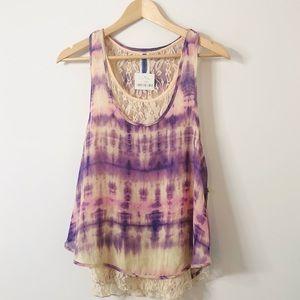 Tie-dye Lace Tank